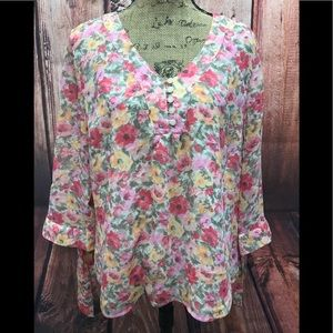 Coldwater Creek size large floral blouse